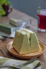 Teakha pandan chiffon cake