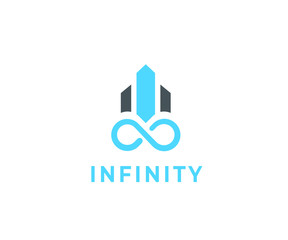 Infinity icon with building