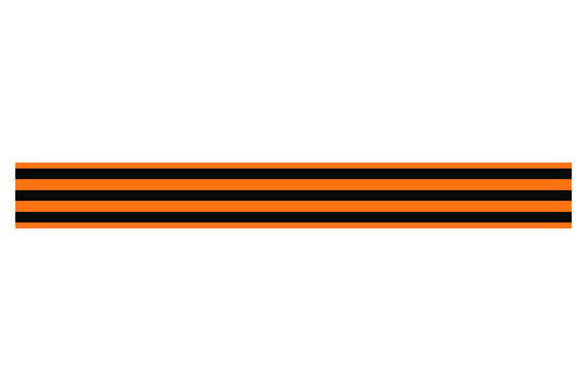 St. George's ribbon vector illustration of an orange and black striped background