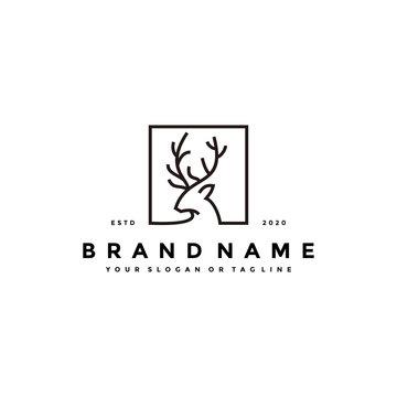 deer logo icon design vector template