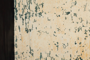 brush-painted black beige vintage wall background structure