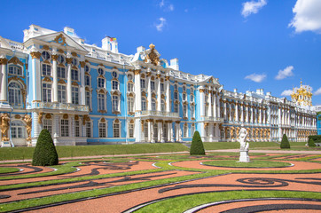 The Catherine Palace in Saint Petersburg, Russia