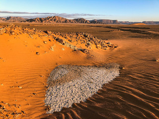 Foto auf AluDibond Rotglühen Désert, Sable, Arabie saoudite, dune