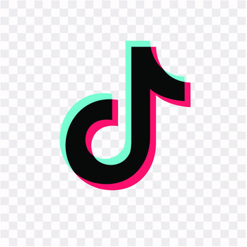 Tik Tok social network icon. Tik Tok icon. current application