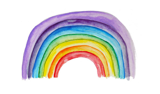 Bunter Regenbogen - rainbow als Symbol der Hoffnung in Zeiten der Krise, Glaube an die Zukunft, Kraft und Stärke, Geduld haben und positiv bleiben