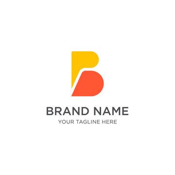 Letter B Logo Template Vector, B monogram logo vector, B symbol vector templates