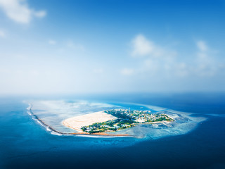 Fototapete - Aerial view of the tropical island
