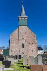 Fotomurales - Facade of the historic church of Heeg, Netherlands