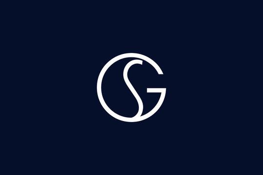 Initial based clean and minimal letter. GS SG logo creative and monogram icon symbol. Universal elegant luxury alphabet vector design