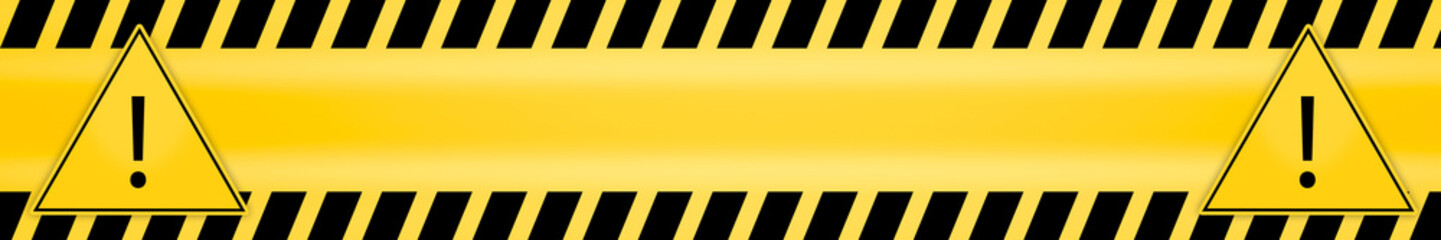 exclamation mark in triangle frame attention caution danger sign and warning line hazard warnings to attract attention