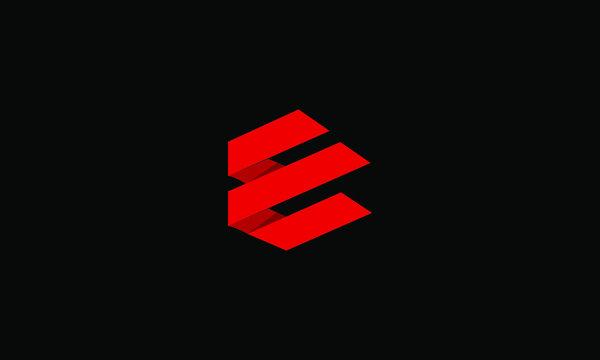 Abstract letter E logo design. Creative,Premium Minimal emblem design template. Graphic Alphabet Symbol for Corporate Business Identity. Initial EE vector element