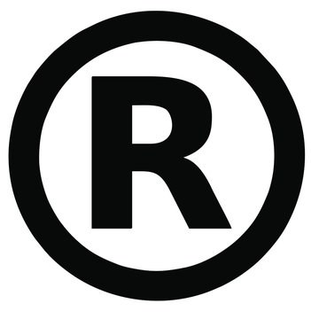 Vector image of a registered trademark