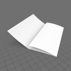 Half open trifold brochure