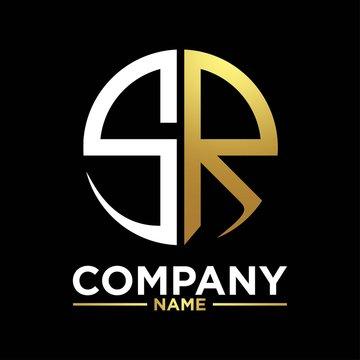 SR initials circle logo monogram designs modern templates luxurious .