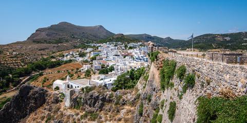 Wall Mural - Panoramic view of Kythira town, Greece, Europe.