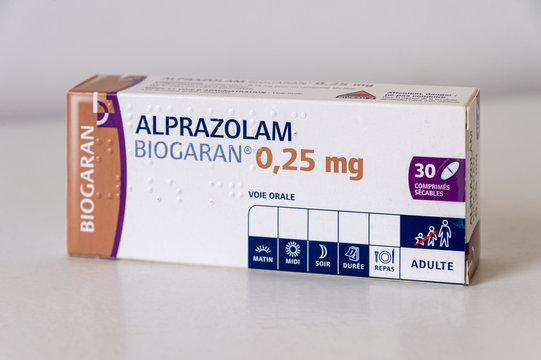 French box of alprazolam benzodiazepine