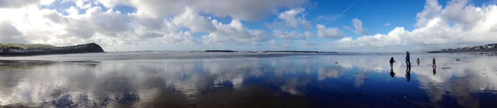 Panoramic View Of Frozen Sea Against Sky