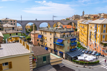 Picturesque resort Bogliasco on Ligurian seashore near Genoa in Liguria, Italy
