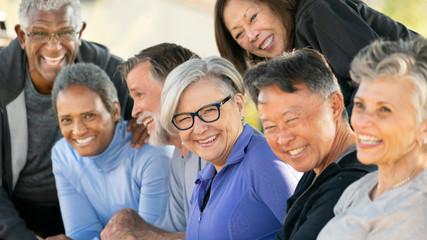 Portrait of senior adult friends