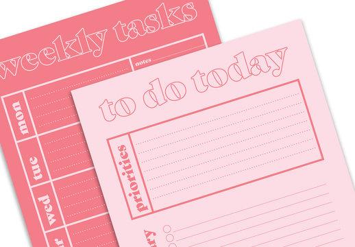 Pink Planner Layout