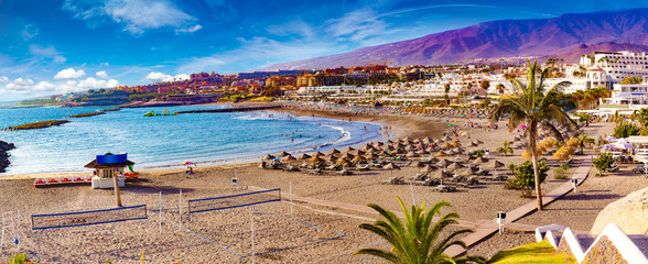 Tenerife, Canary Islands, Spain.Scenic landscape Costa Adeje.