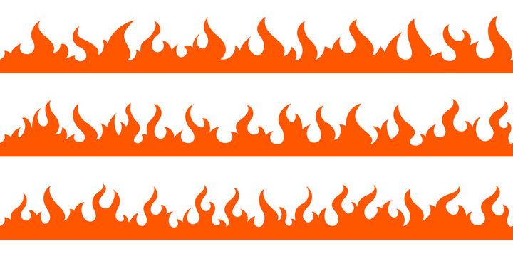 Fire flame frame borders