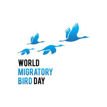 World migartory bird day. Logo icon vector.