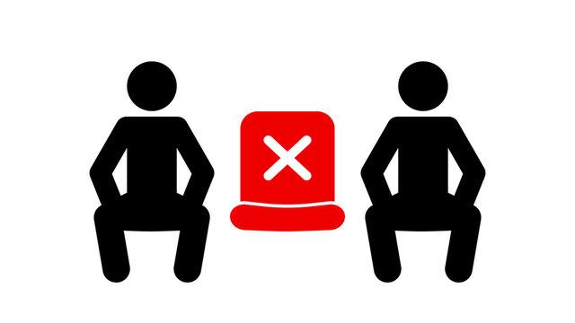 Social distancing sitting alternate seating