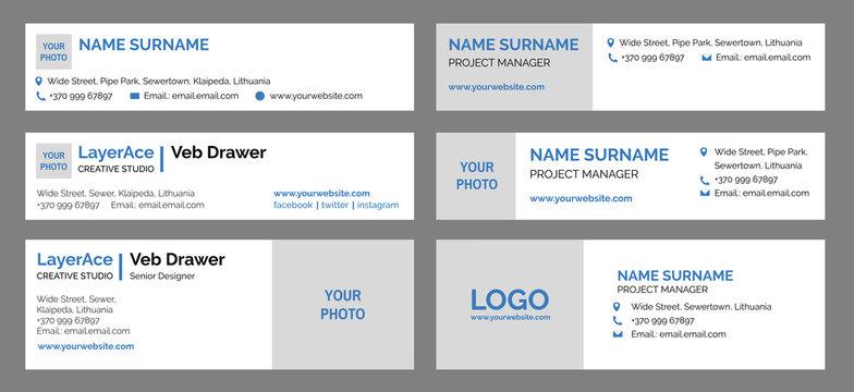 Email Signatures Design Templates Set