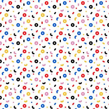Trendy Geometric Design Seamless Pattern - Fun geometric repeating pattern design