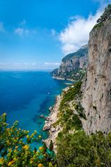 View  from Giardini di Augusto garden  in Capri, Italy.