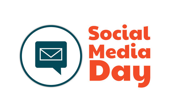 World Social Media Day. June 30. Holiday concept. Template for background, banner, card, poster with text inscription. Vector EPS10 illustration.
