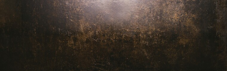 dark weathered rusty metal background texture or backdrop, banner size, with copyspace for your individual text. Fotomurales