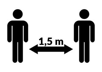Abstand Mann