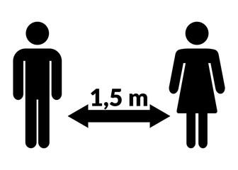 Abstand Mann Frau