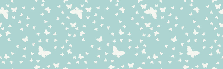 Zelfklevend Fotobehang Vlinders in Grunge Seamless background with butterflies.