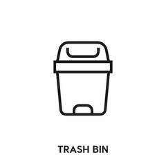 trash bin icon vector. trash bin icon vector symbol illustration. Modern simple vector icon for your design. trash bin icon vector