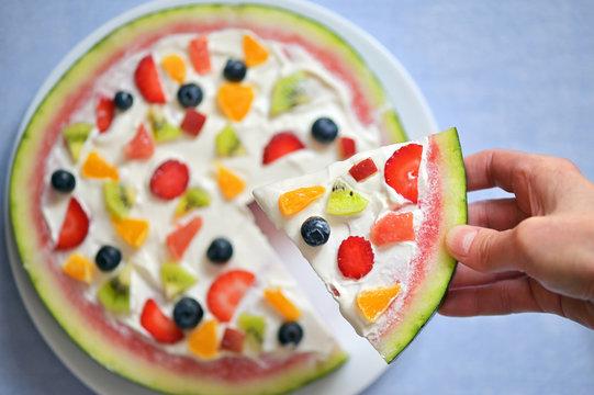 Watermelon Pizza Exotic Fruit Salad