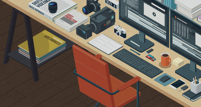 Professional videomaking and video editing,3D illustration
