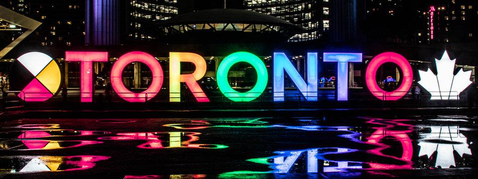 Toronto Sign Canada at Night