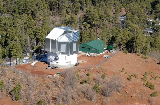 Aerial view of Discovery Channel Telescope, Happy Jack, Arizona