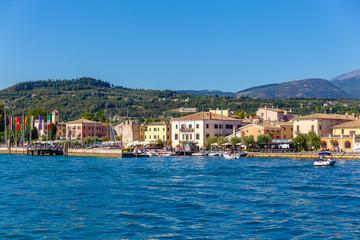 27 August 2019. View of  Bardolino town, onLake Garda, Italy..