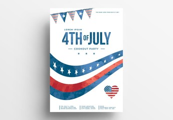 July 4th Flyer Layout with Simple Layout