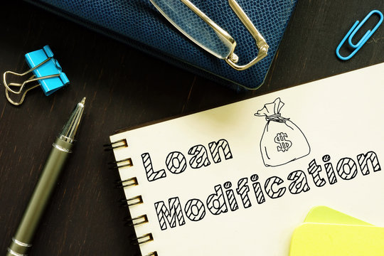 Loan Modification is shown on the conceptual business photo