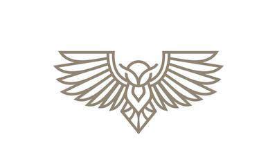 owl line art logo icon