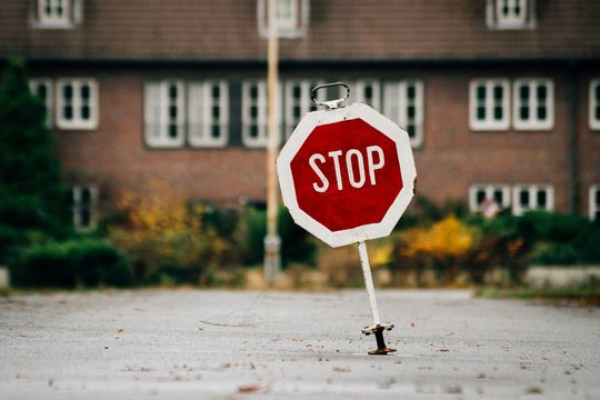 Stop Sign On Street