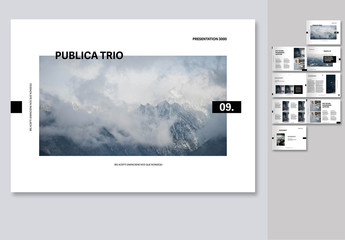 Portfolio Layout with Placeholders