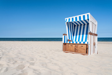 Wall Mural - Beach chair at the North Sea, Germany