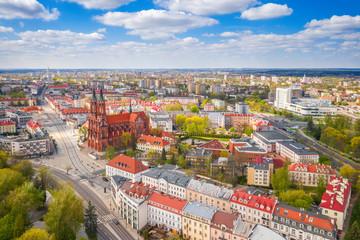 Obraz Białystok z lotu ptaka, Podlasie, Polska - fototapety do salonu