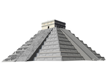 chichen itza pyramid vector